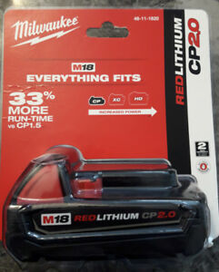Brand New Milwaukee M18 18V Lithium-Ion 2.0Ah Battery