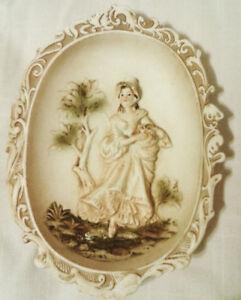 Vintage L'AMOUR CHINA JAPAN Porcelain Wall Pocket Set