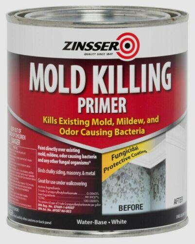 Zinsser MOLD KILLING PRIMER 1 qt. Odor Fungai White Water-Based Acrylic 276087