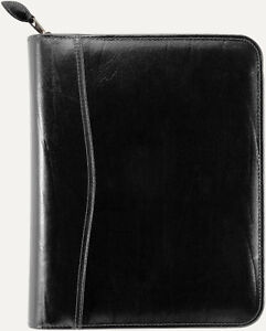 """Daytimer 5.5""""x8.5"""" Black leather zippered personal diary"""