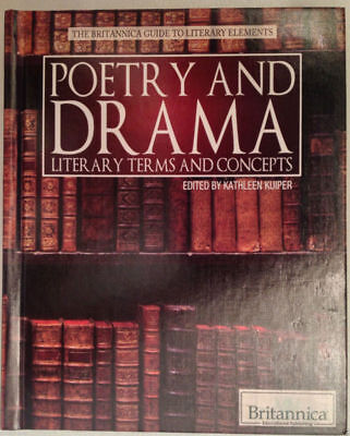 New!  POETRY AND DRAMA Literary Terms & Concepts HARDCOVER Britannica Guide BOOK