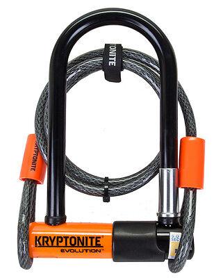 KRYPTONITE EVOLUTION MINI-7 Bike Pocket U lock w/ 4 FOOT KRYPTOFLEX CABLE NEW