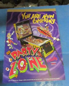 Pinball Zone Pinball Flyer original 1991