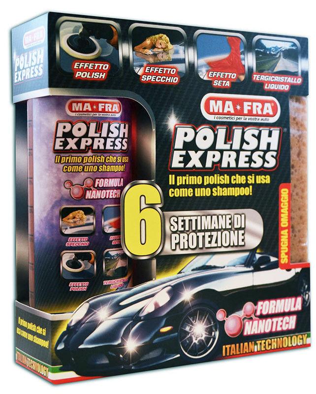 Ma-Fra Kit Polish Express Auto per pulizia AUTO Shampoo con spugna Nanotec
