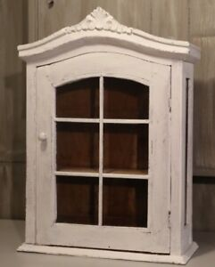 #5 Small Wood Wall Curio Cabinet