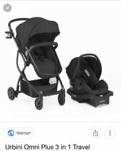 Urbini omni stroller, car seat and base