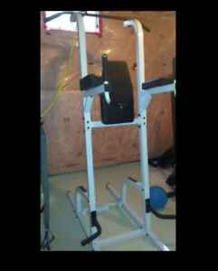 Body Solid Power Tower Chin Pull Up VKR Knee Raise Push Up Dips