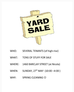 Multi-tenant Yard Sale