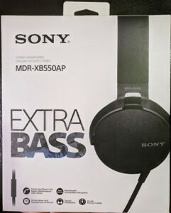 Sony Extra Bass Headphone (MDRXB550AP/B), Black, With Box