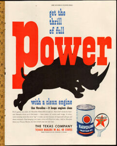 1949 full page color ad for Texaco Havoline Motor Oil