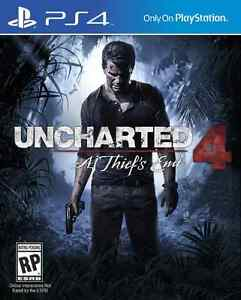Sealed Uncharted 4 for PS4 Kitchener / Waterloo Kitchener Area image 1