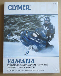 Clymer Manual Yamaha Snowmobile, 1997-2002 S827 - New