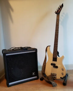 Washburn 4-String bass and Yorkville amp set, with extras!