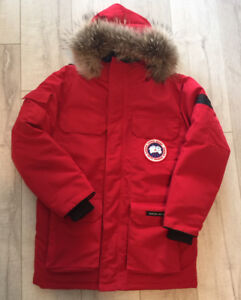 New Canada goose jacket - red size small