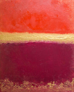 """Contemporary Painting Canvas 16""""x20"""" Red"""