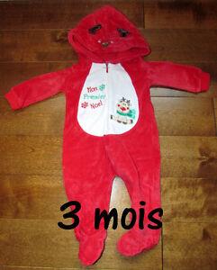 """Pyjama unisexe """"Mon premier Noël"""" pour bébé 3 mois ou 13 lb Saguenay Saguenay-Lac-Saint-Jean image 1"""