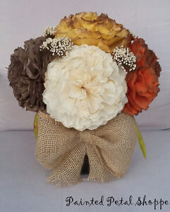 Fall Coffee Filter Arrangement/Thanksgiving/Fall Wedding Flowers Belleville Belleville Area image 5