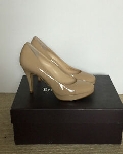 Nude Patent Leather Pumps Size 5