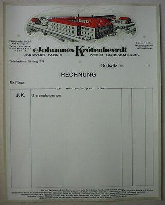 altes Briefpapier - Firmenbriefkopf aus Redwitz bei Lichtenfels - TK250-1017