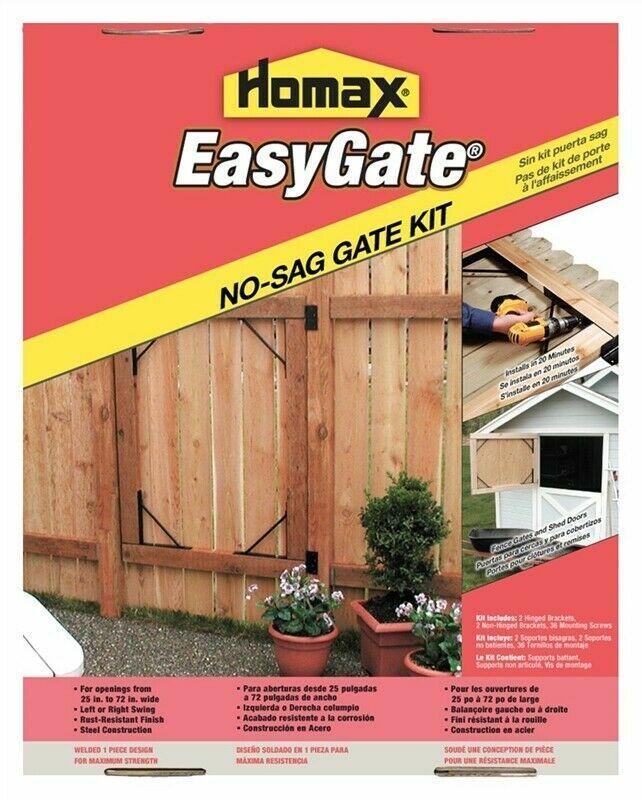 Homax 80099 Easy Gate Steel No-Sag Bracket Kit