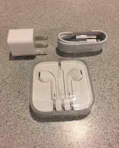 apple earbuds earphone earpods and USB cable and adapter NEW Kitchener / Waterloo Kitchener Area image 1