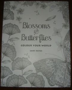 BRAND NEW BLOSSOMS AND BUTTERFLIES COLORING BOOK