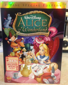 Alice in Wonderland Special Un-Anniversary Edition 2 Disc DVD