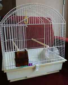 Bird cage - white, w pull out tray