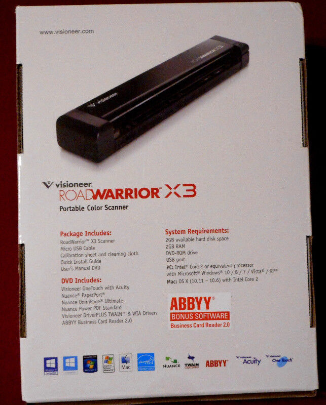 Road warrior x3 colour portable scanner brand new in box printers listing item reheart Gallery