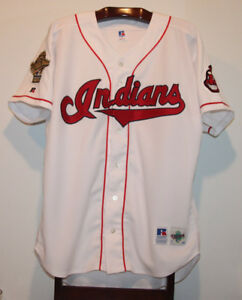 AUTHENTIC CLEVELAND INDIANS 1995 WORLD SERIES BASEBALL JERSEY 48