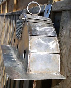 Stainless Steel Bird House Hand Made (Welded) One of a Kind Plan