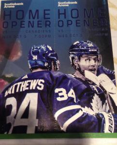 Leafs vs LA KINGS - OCT 15th - Centre Ice Greens Sct 320 row 9
