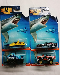 2016 MATCHBOX DIE CAST DISCOVERY SHARK WEEK SET OF 4 CARS MINT