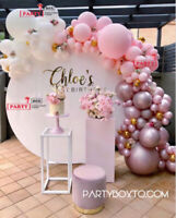 Sweet Cart, Backdrop, Photobooth, Doughnut wall & Plinths Rental