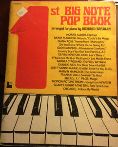Country Music song book and other sheet music