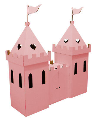 Cardboard Princess Castle (pink) by Kid-Eco