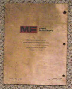 MF 235 tractor  Operators Manual-- $8.00 London Ontario image 3
