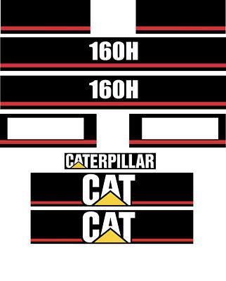Caterpillar 160h Motor Grader Decal Sticker Set