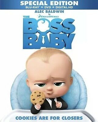 The Boss Baby Blu Ray Dvd Digital Hd W Slip Cover Special Edition New