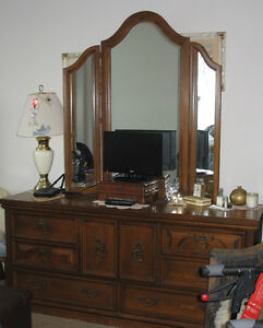 Bedroom Dresser and Mirror