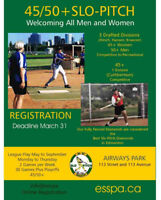 SLO PITCH PLAYERS WANTED FOR 45+ & 50+ MEN & LADIES ADULT LEAGUE