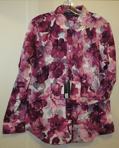 New (with tags) Jones of New York Medium/Large Blouse, Wild Rose
