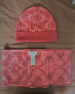 COACH hat and scarf $55