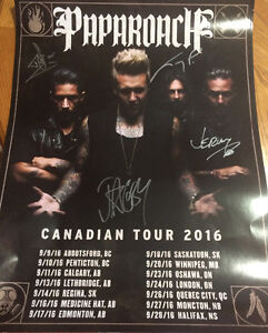 Papa Roach Limited Edition Signed Tour Poster from VIP Package