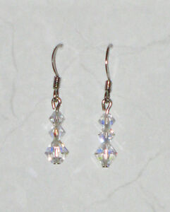 Clear Swarovski Crystal Earrings