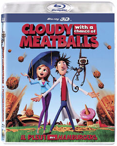 CLOUDY WITH A CHANCE OF MEATBALLS 3D Blu Ray