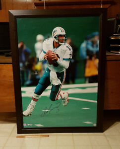 Dan Marino signed HUGE framed photo, double certified PSA/DNA