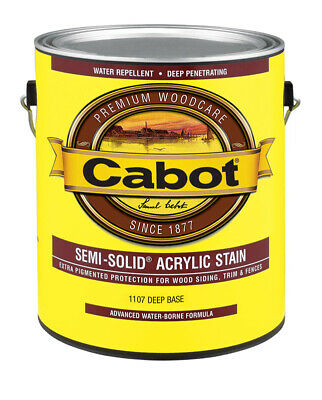 Cabot  Semi-Solid  Tintable Deep Base  Water-Based  Acrylic  Stain  1 gal. Deep Base Stain