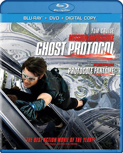 MIssion Impossible Ghost Protocol Blu Ray Tom Cruise