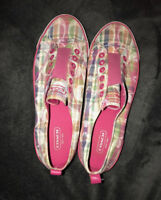 COACH Canvas and Leather Sneakers, Flats Size 9 - 9.5